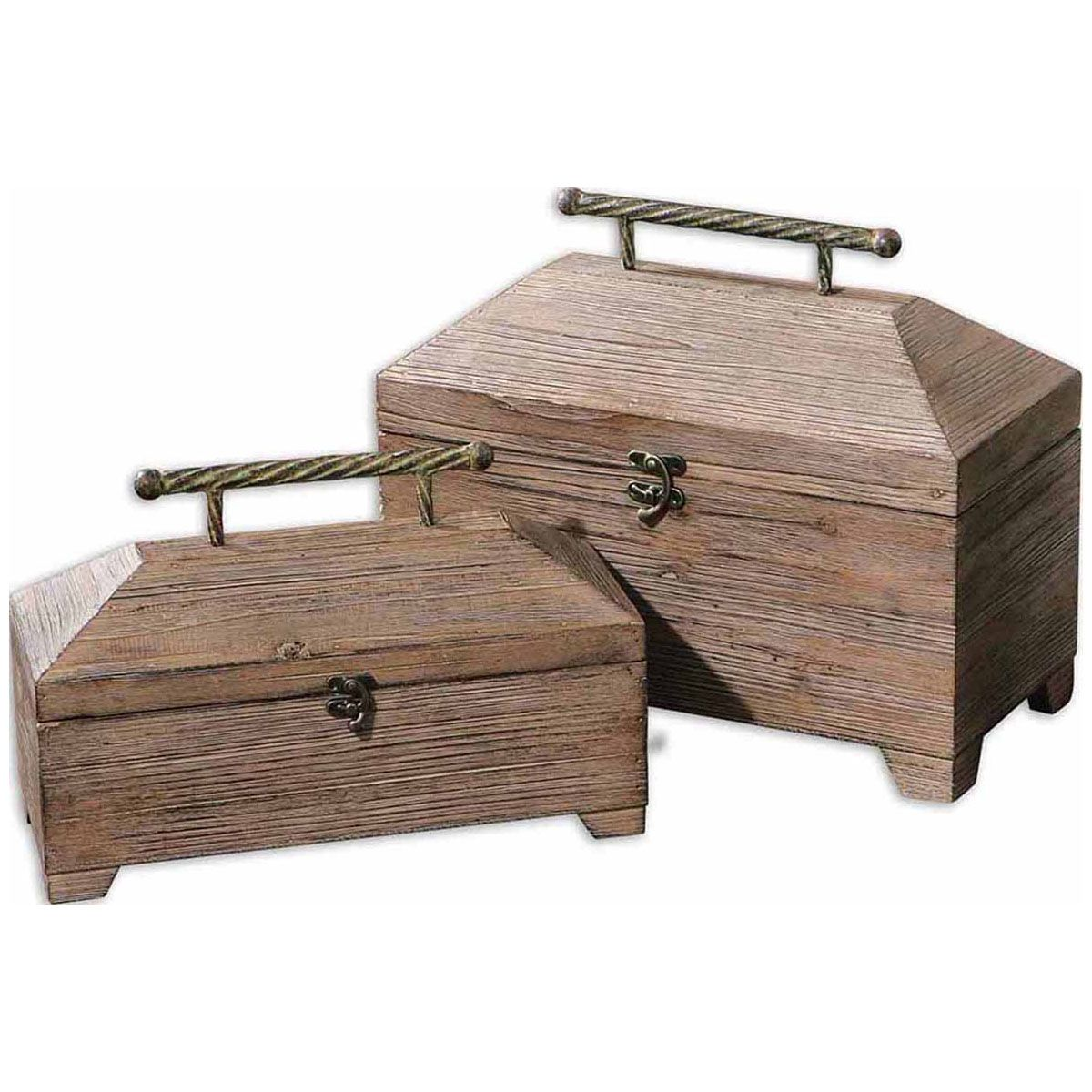 Uttermost Tadao Natural Wood Boxes, Set of 2 19653