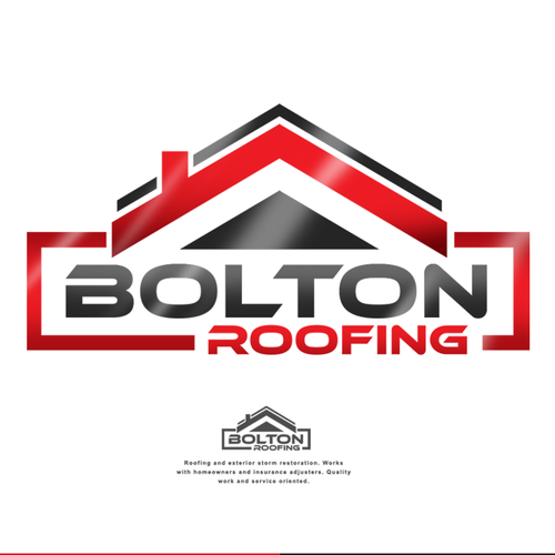 Unique Logo Design For Bolton Roofing Logo Design Contest Design Logo Winning Jericbolton Roofing Logo Unique Logo Design Logo Design Contest