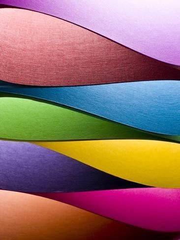 Photographic Print Colored Paper Background Stacked In Wedges By Steve Collender 24x18in Paper Background Colored Paper Color