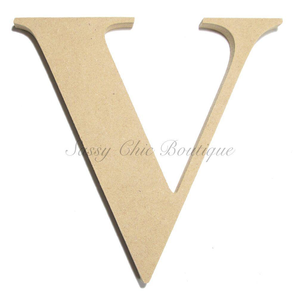 Unfinished Wooden Letter - Uppercase \