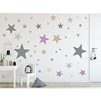 timalo® 120 Stück Wandtattoo Kinderzimmer XL Sterne