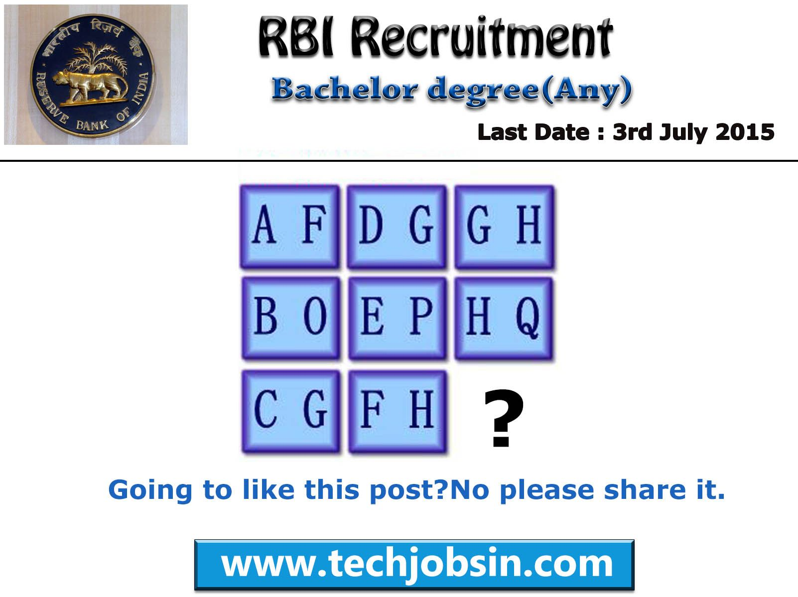 Rbi india bank latest recruitment notification for assistant apply online 2015 for all engineering branches http