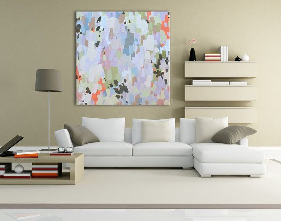 Abstract oversized giclee canvas prints created from my original painting welcome to the various sizes available to order features many yellows and muted