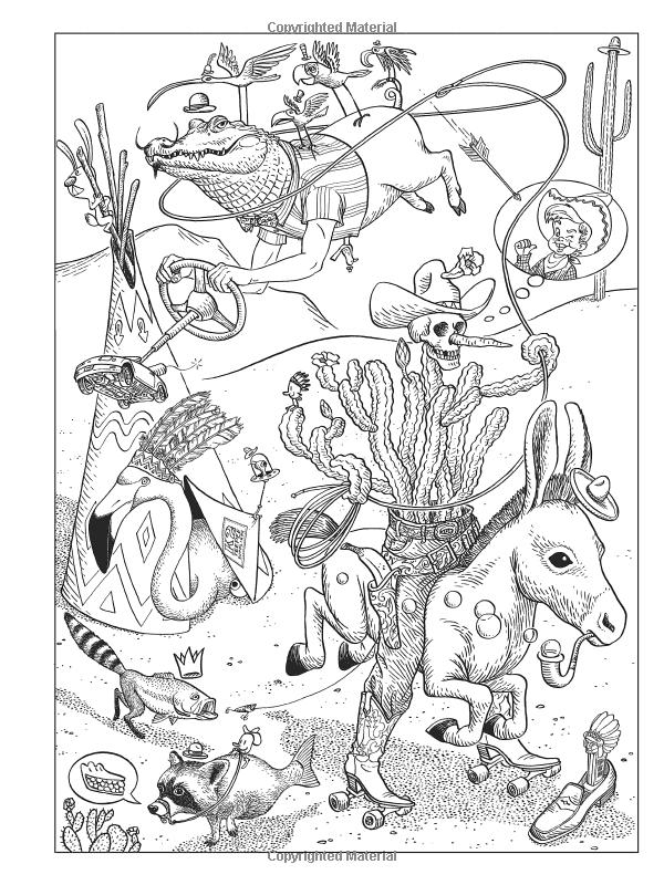 Amazon Com Creative Haven Bizarro Land Coloring Book By Bizarro Cartoonist Dan Piraro Adu Creative Haven Coloring Books Animal Coloring Pages Coloring Books