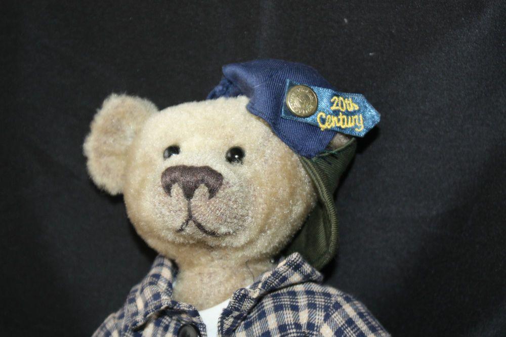 Pickford Brass Button Teddy Bear Plush 'Bennett' 20th Century Collectibles NWT…