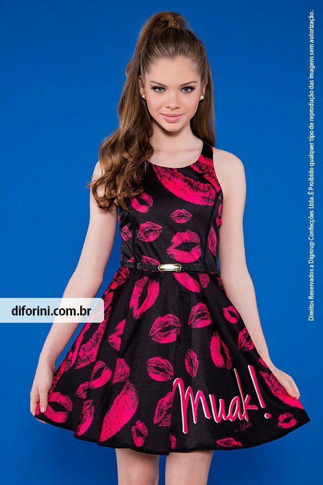 f92859cc1 Vestido Infantil Diforini Moda Infanto Juvenil 010794