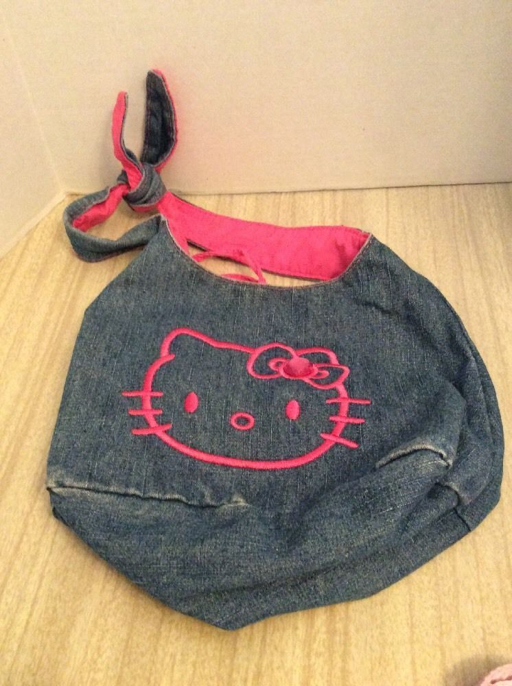 Hello Kitty Girls Denim Purse