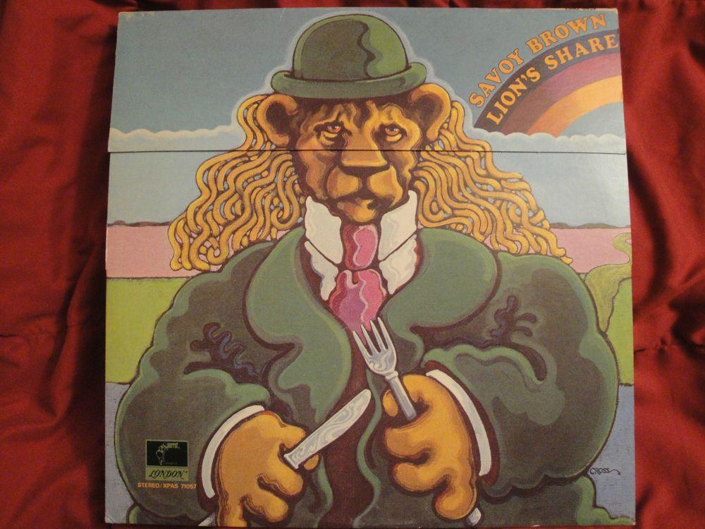 """Savoy Brown """"Lion's Share"""" Original 1972 Parrot XPAS 71057, Stereo Vinyl Lp EX"""