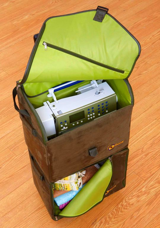 Creative Options Double Decker Rolling Tote I Want