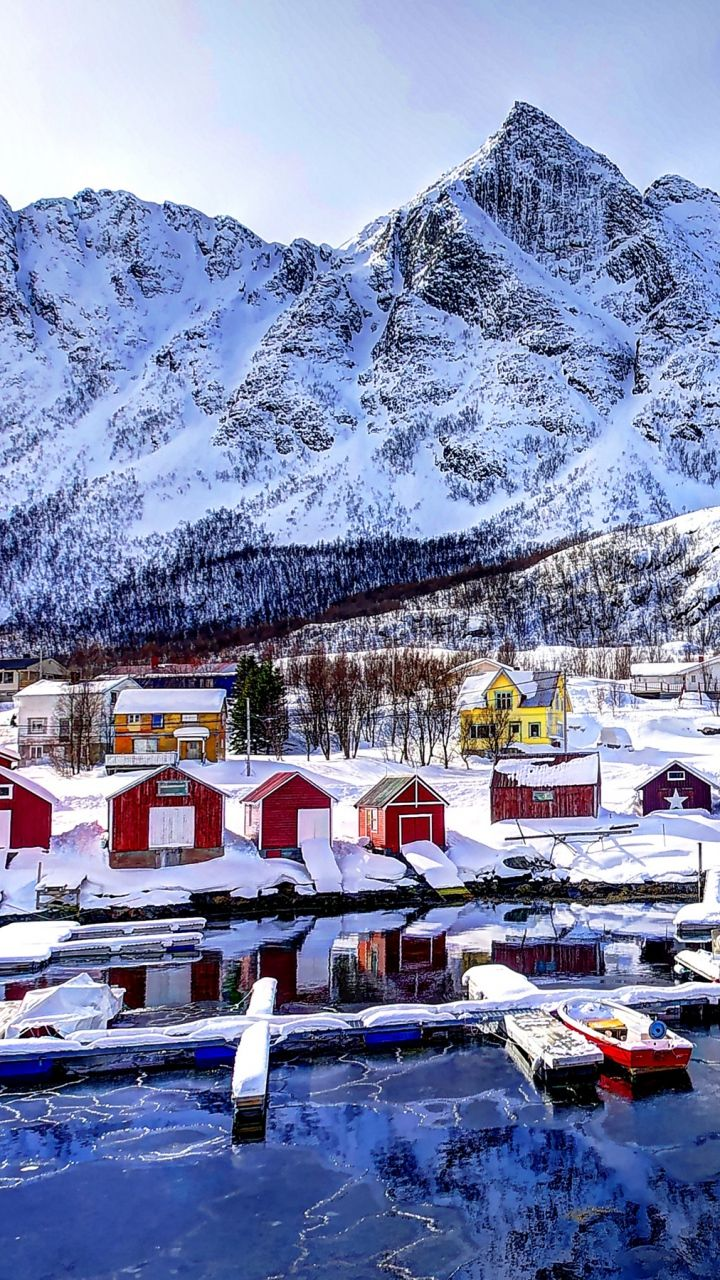 720x1280 magical beach gras hills ocean galaxy s3 wallpaper - Download Wallpaper 720x1280 Norway Mountains Buildings Bay Winter Snow Samsung Galaxy