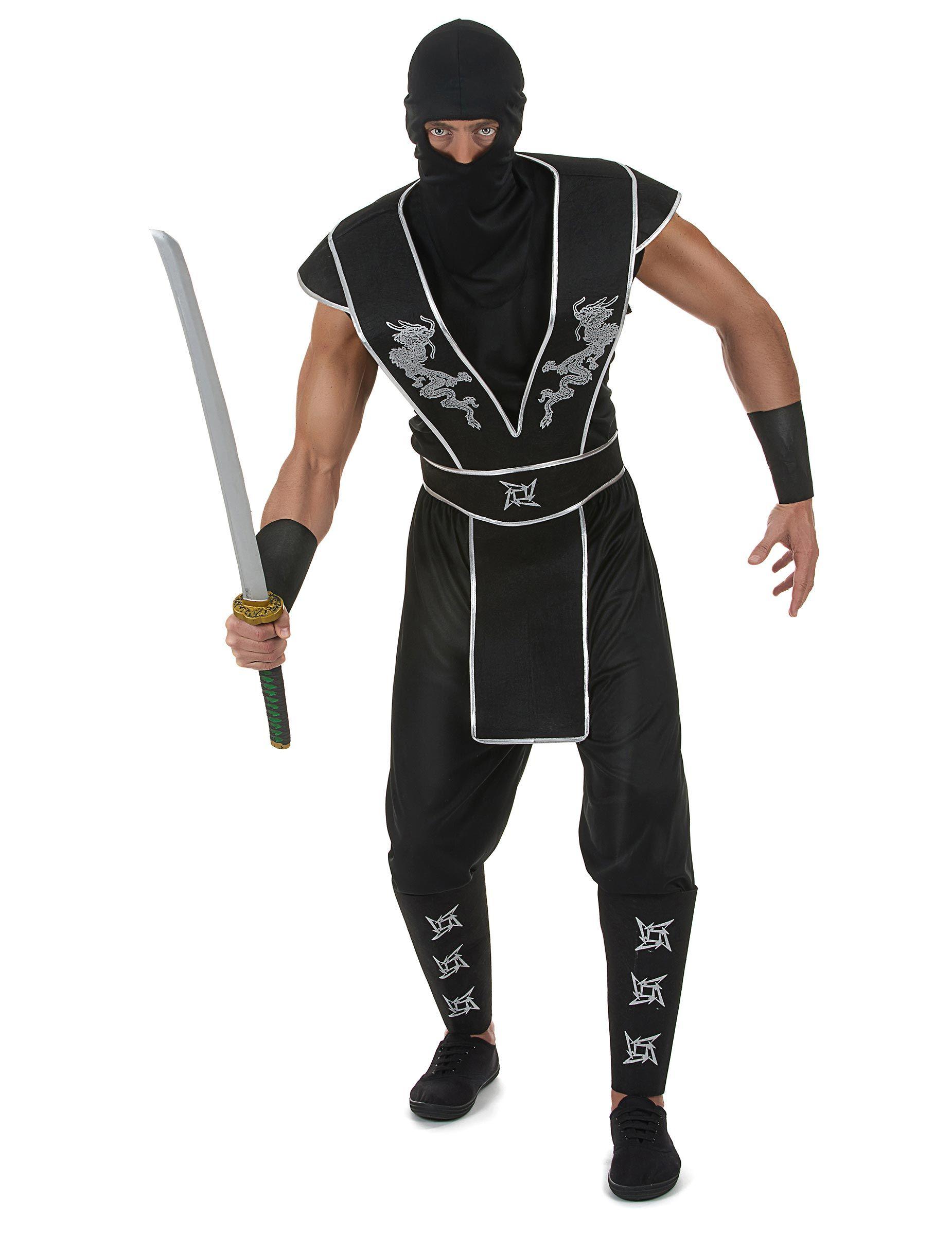 e6d76cd507c Disfraz de ninja estrella Shuriken hombre  Este disfraz de ninja para  hombre incluye camiseta