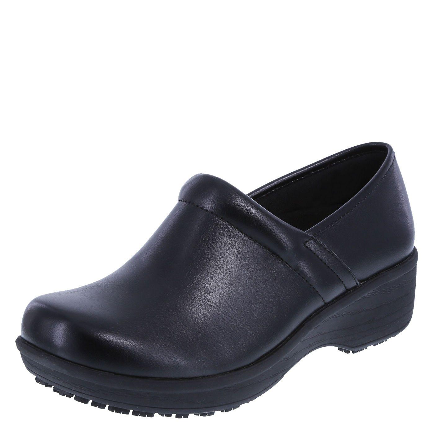 Safe T Step SafeTstep Women/'s Slip Resistant Gretchen Black Clog Shoes Medium