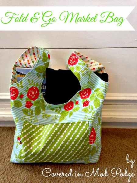 Covered in Mod Podge: Fold and Go Market Bag Tutorial {or I\'m ...