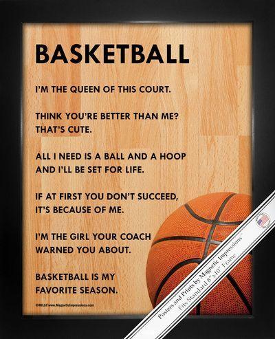 Basketball Female 8x10 Sport Poster Print Sports Quotes Basketball Basketball Girls Sports Basketball