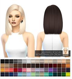 Miss Paraply: Nightcrawler Crow: Solids • Sims 4 Downloads