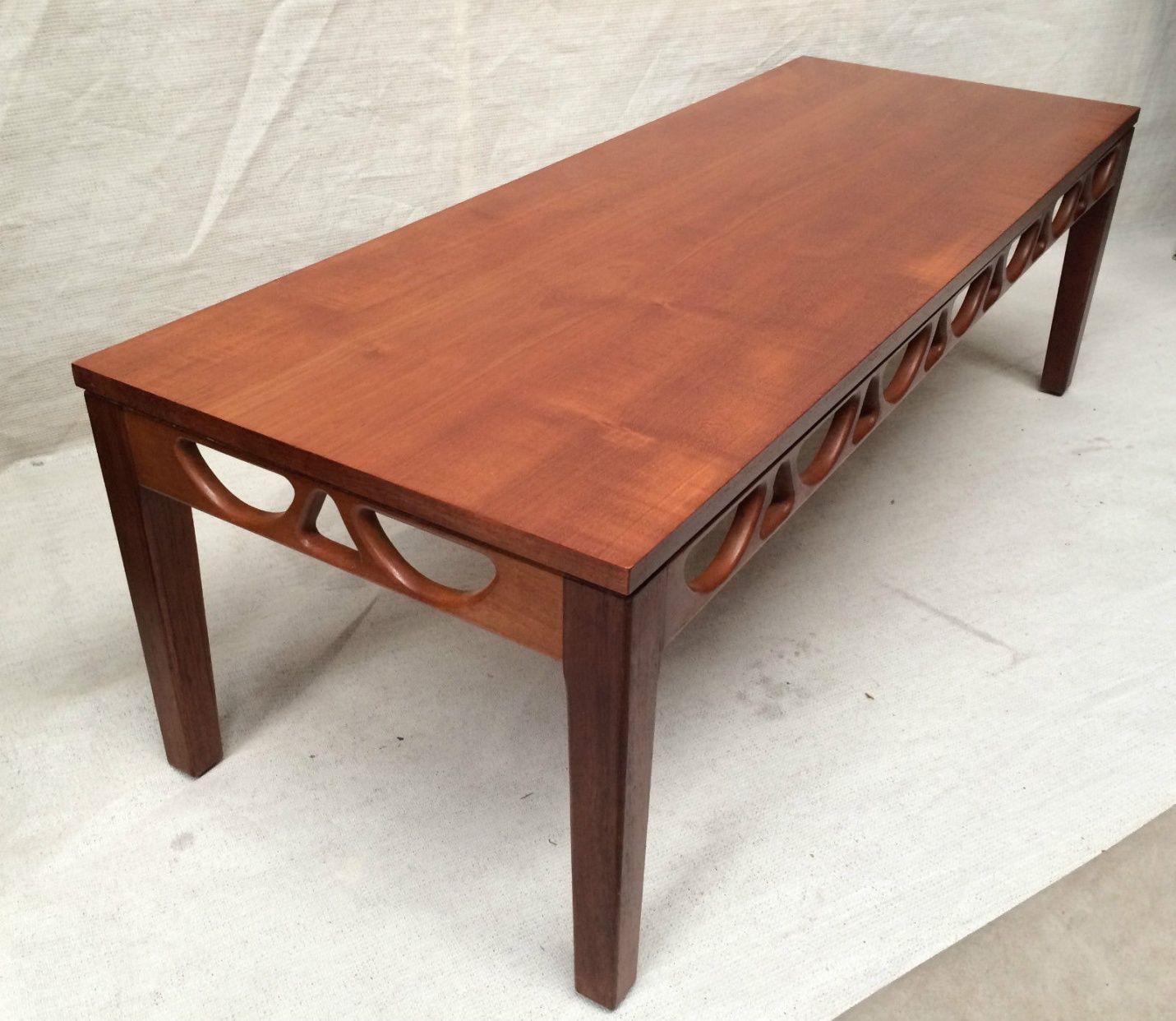 Stunning Teak And Chrome Contemporary Small Coffee Table: Stunning Genuine 60s AVALON TEAK COFFEE TABLE MID CENTURY