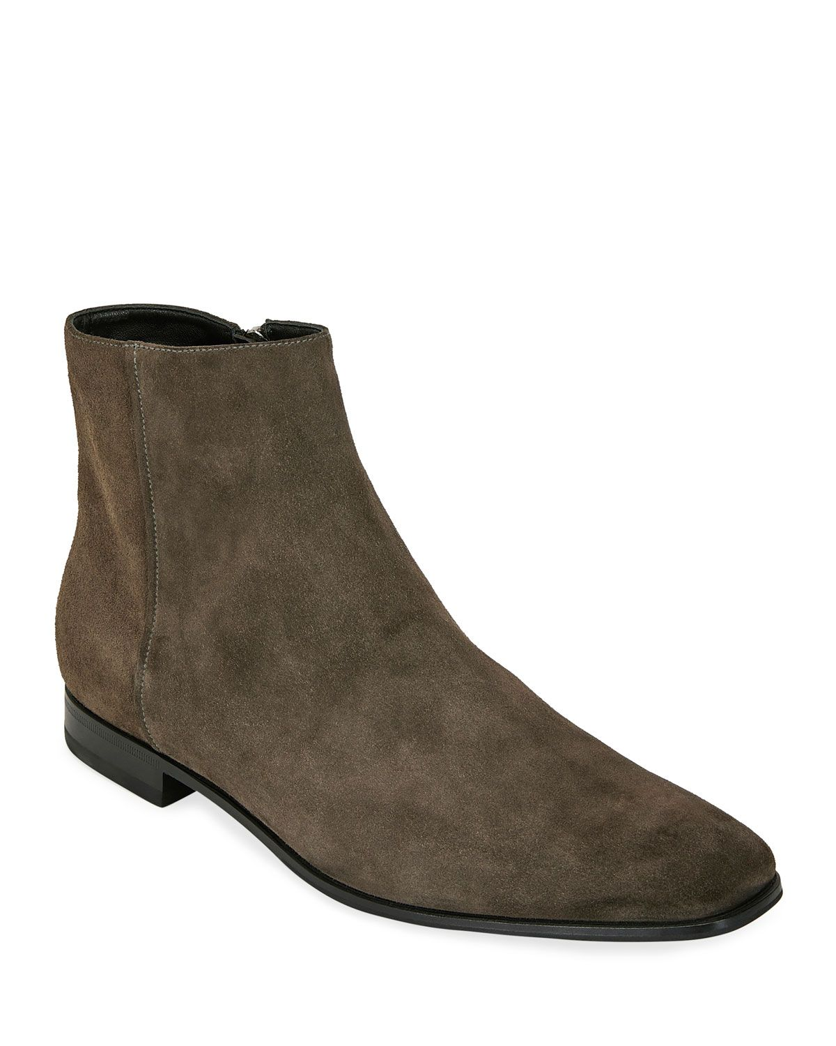 Suede Side-Zip Ankle Boot