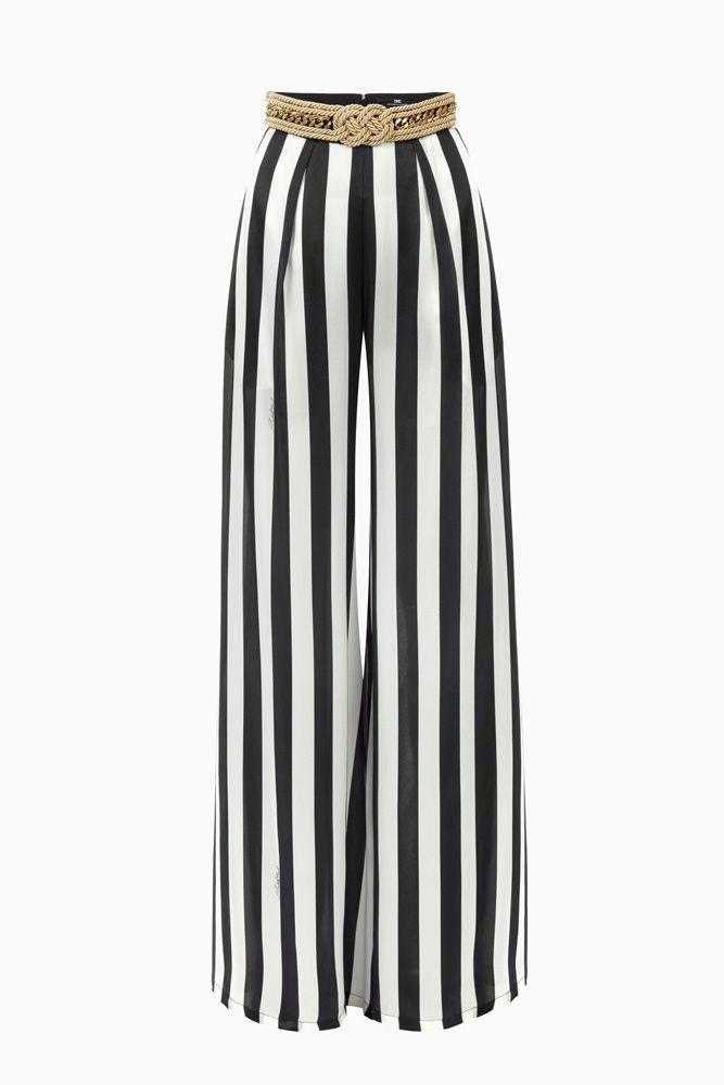 Pantalone palazzo a righe Pantaloni su Digital Store