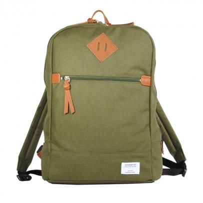 """Uno (green)  is a stylish and sporty backpack from """"sandqvist"""" and fits a 13"""" notebook, made out of durable cordura"""