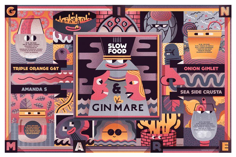 Anuncio de la ginebra Gin Mare junto el Slow Food Italy