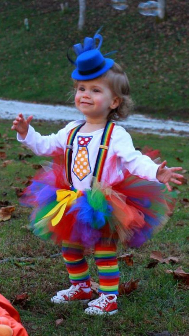toddler clown costume lily katherine and sawyer brooks. Black Bedroom Furniture Sets. Home Design Ideas