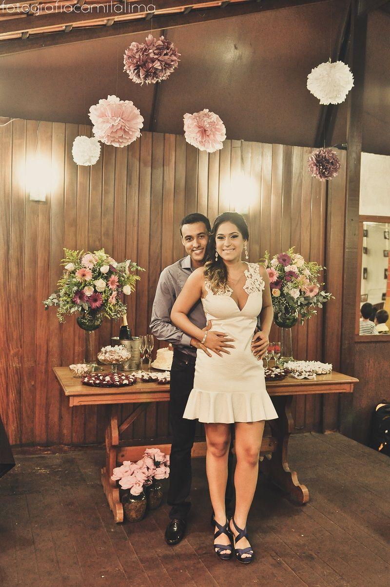 O Noivado de Rayanne e Lucas foi super fofo e está hoje no Blog! A noivinha contou pra gente que tirou várias inspirações do Peguei o Bouquet. Confiram: