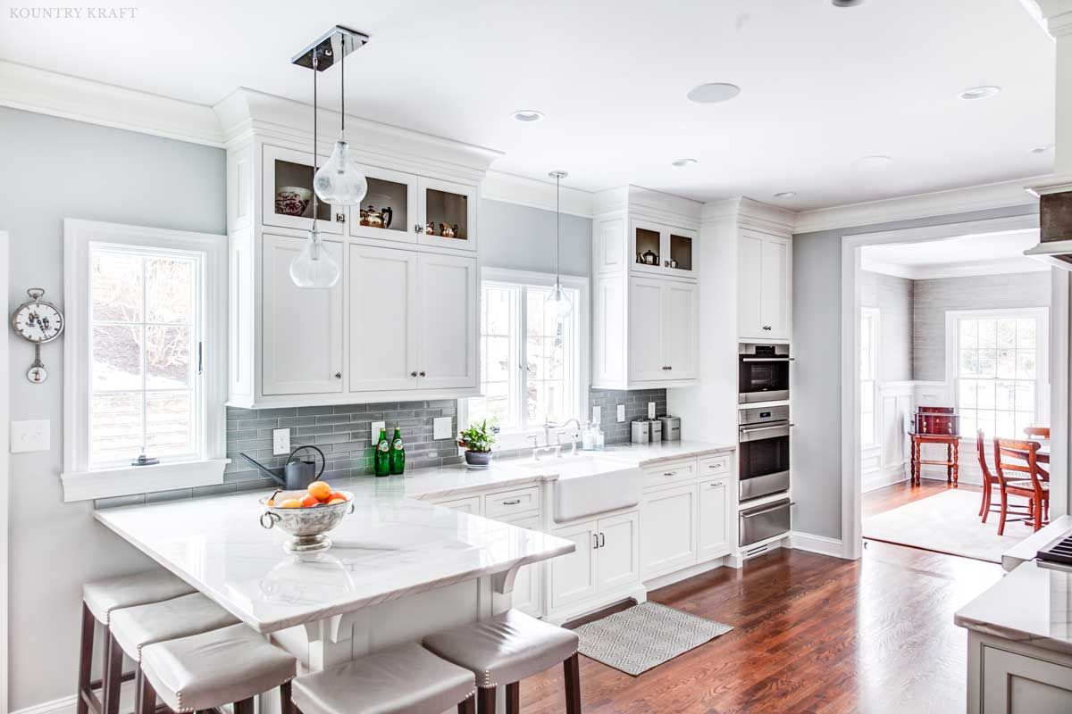 Custom White Shaker Cabinets For A Kitchen In Madison New Jersey
