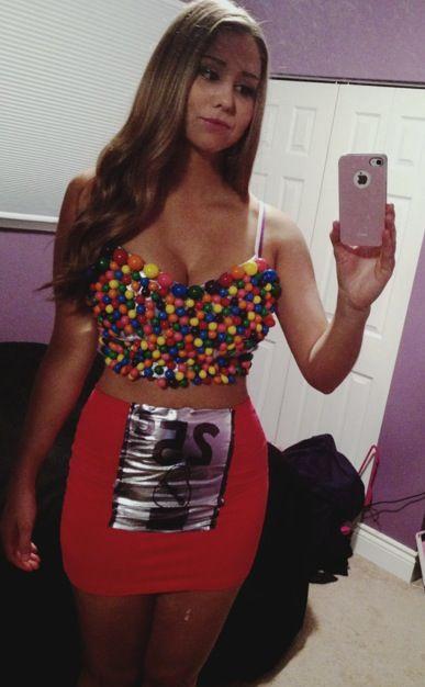 halloweencostume diycostume bubblegum halloween costume brunette rainbow - Halloween Costume Brunette