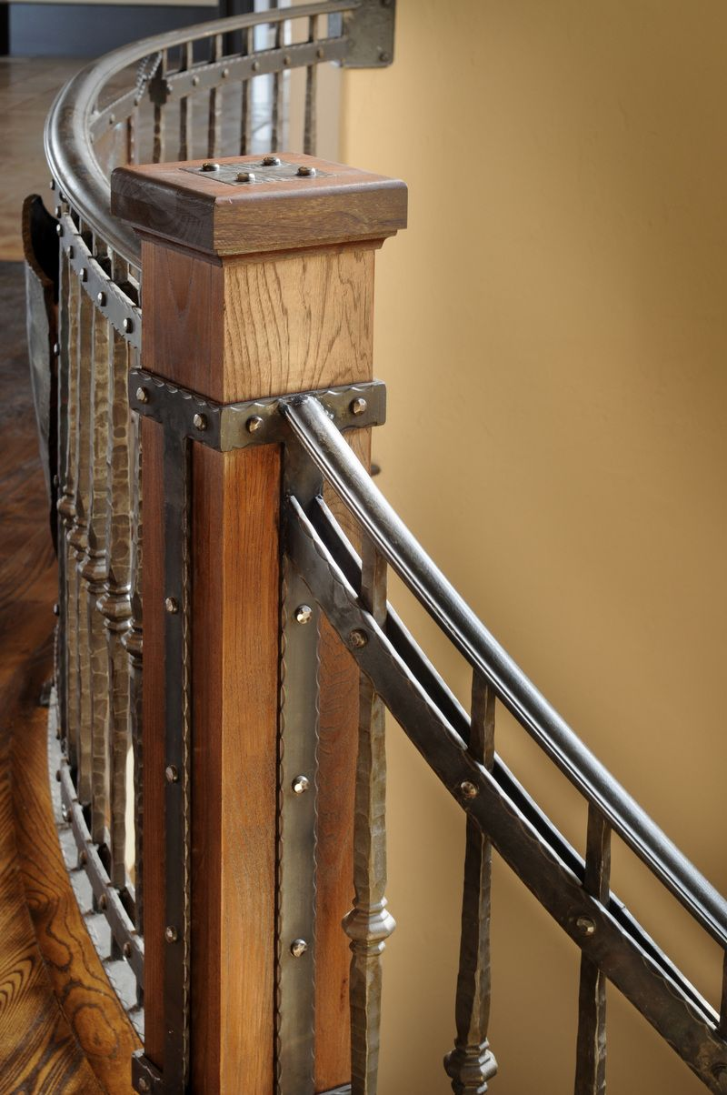 Stair Newel Post Designs | NOMMA Award Winning Interior Railing For A  Mountain Home In