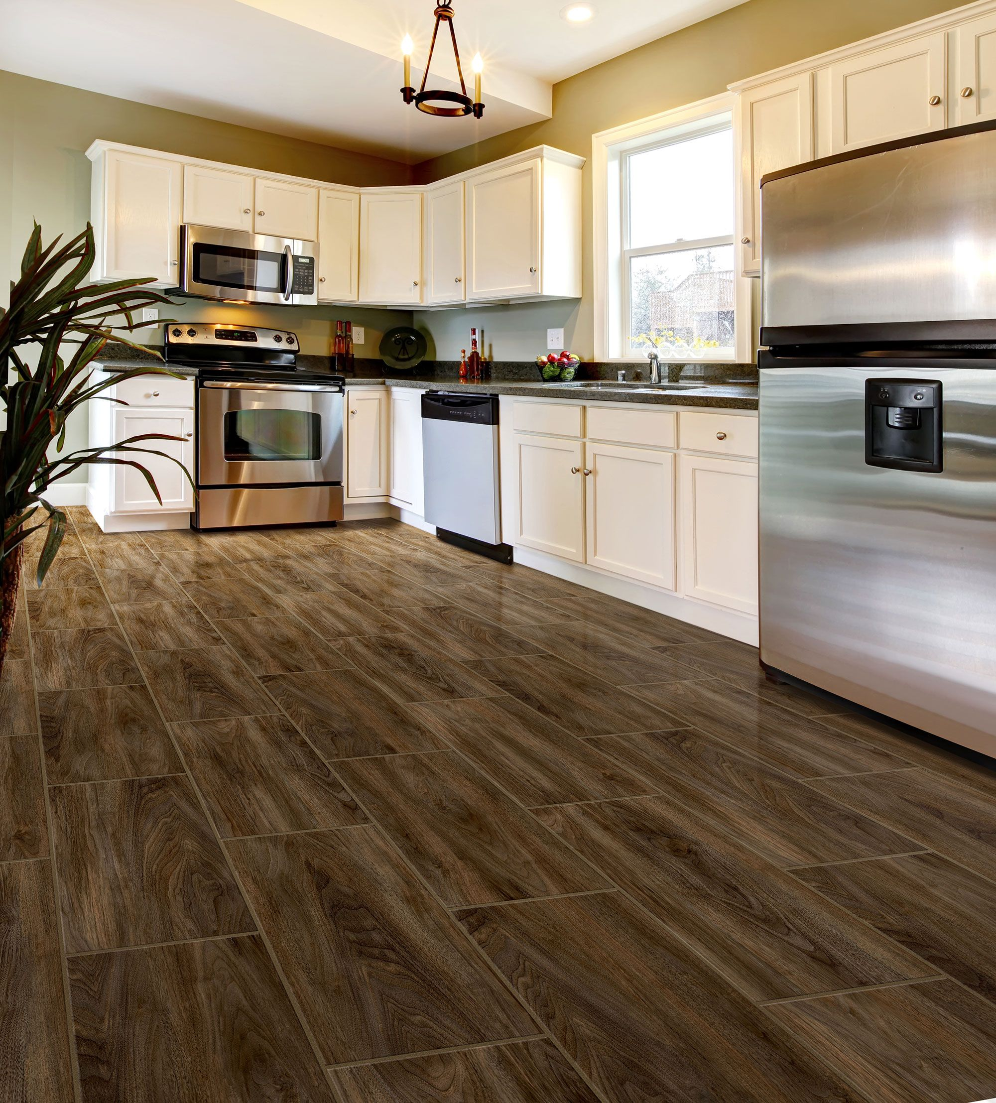 Walnut Floor Kitchen Walnut Grove Kokutan Congoleum Duraceramic Luxury Vinyl