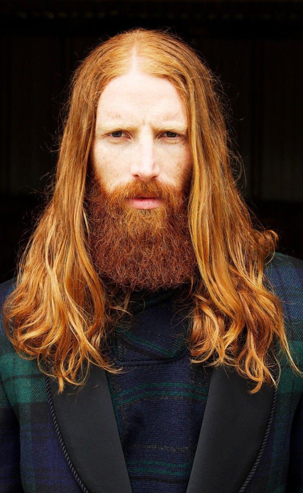 Redhead men with long hair