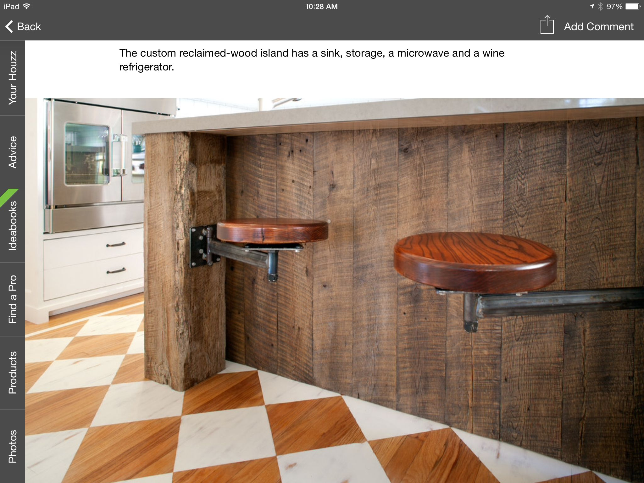 Built In Hinged Stools Reclaimed Wood Kitchen Island Wood
