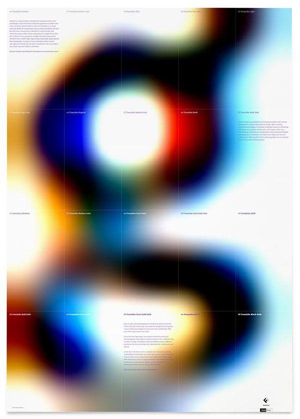 FF Franziska Specimen Poster