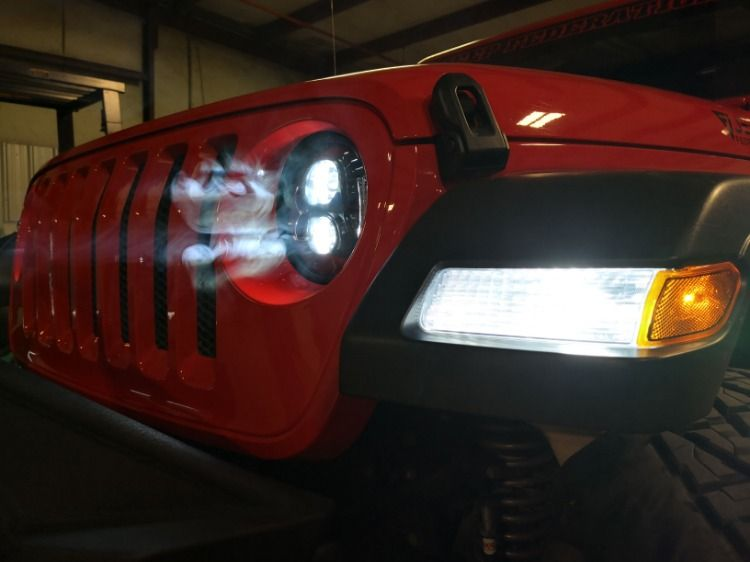 New Led Headlights And Led Blinkers For Jeep Jl 2018 2019 2020