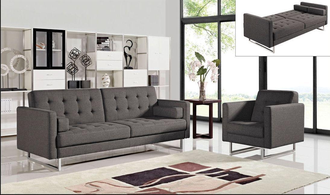 Diamond Opus Convertible 2 Pcs Sofa Chair Set Living Room