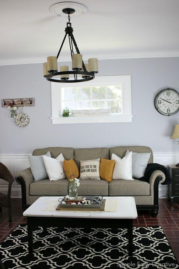 fabulous modern living room decor | MODERN FARMHOUSE LIVING ROOM MAKEOVER -- turn a boring ...