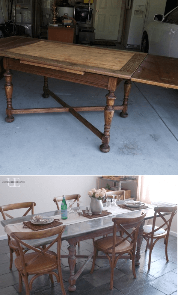 Diy Dining Table Makeover Ideas Using Zink Cover Top18 Other Fascinating Diy Dining Room Table Makeover Decorating Design
