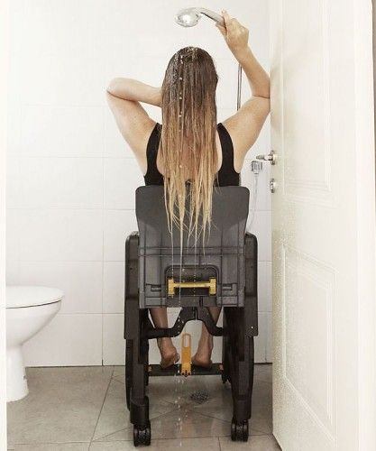 Wheelable Folding Shower Commode Chair Mobility Product