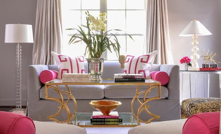 Pink And Gray Living Rooms Contemporary Living Room Pink Living Room Decor Living Room Grey Pink Living Room
