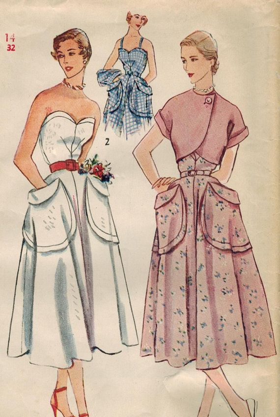 c4906a021d 1950s Simplicity 3233 Vintage Sewing Pattern by midvalecottage