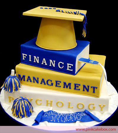 Stacked Books Cap Graduation Cake Graduation Cakes