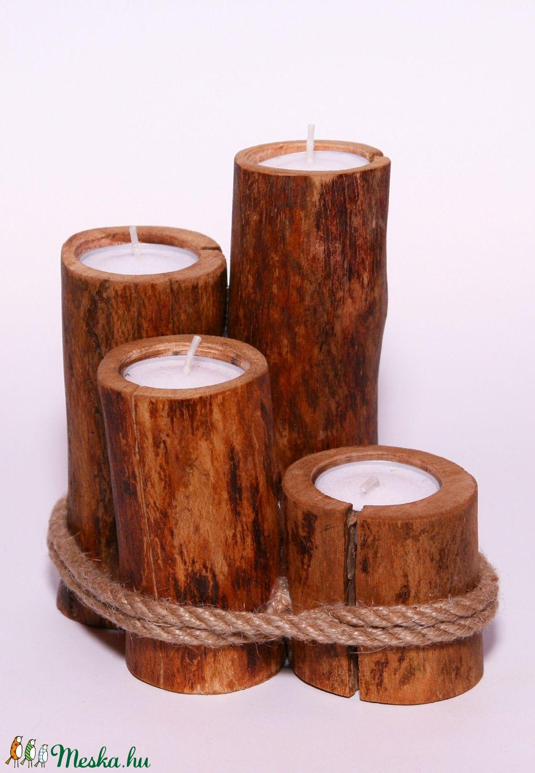 Ooden tee candle holder zen home pinterest