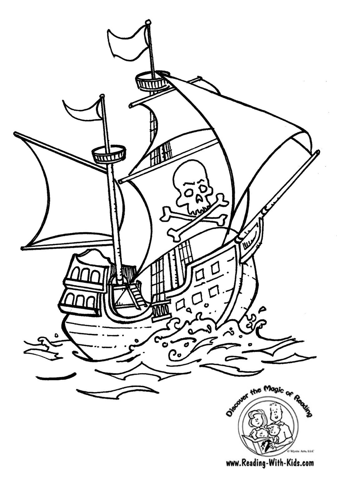 Http Www Reading With Kids Com Images Pirate Ship Coloring Page Jpg