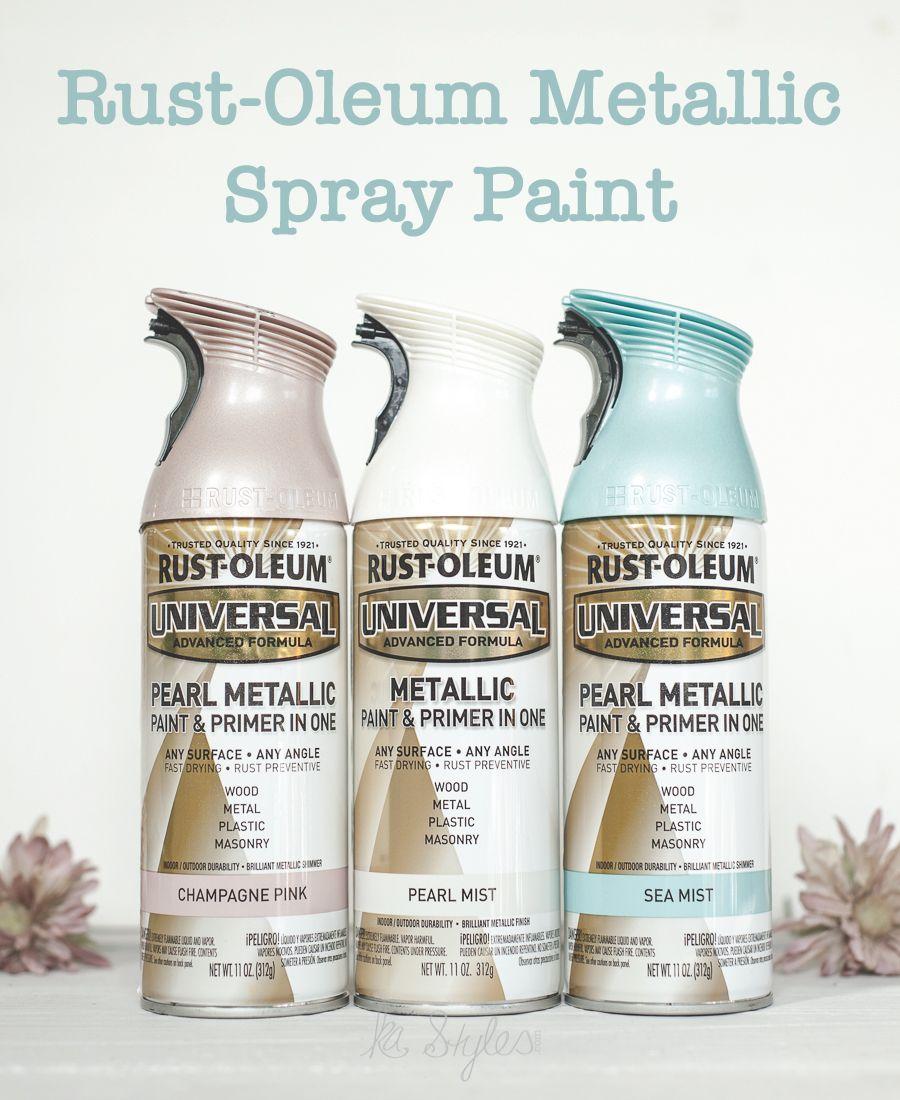 Rust Oleum Metallic Spray Paints Metallic Spray Paint Pearl White Spray Paint Spray Paint Colors