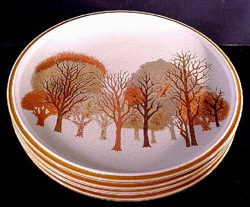 four 4 mikasa stylekraft walnut grove c0905 dinner plate excellent condition ebay