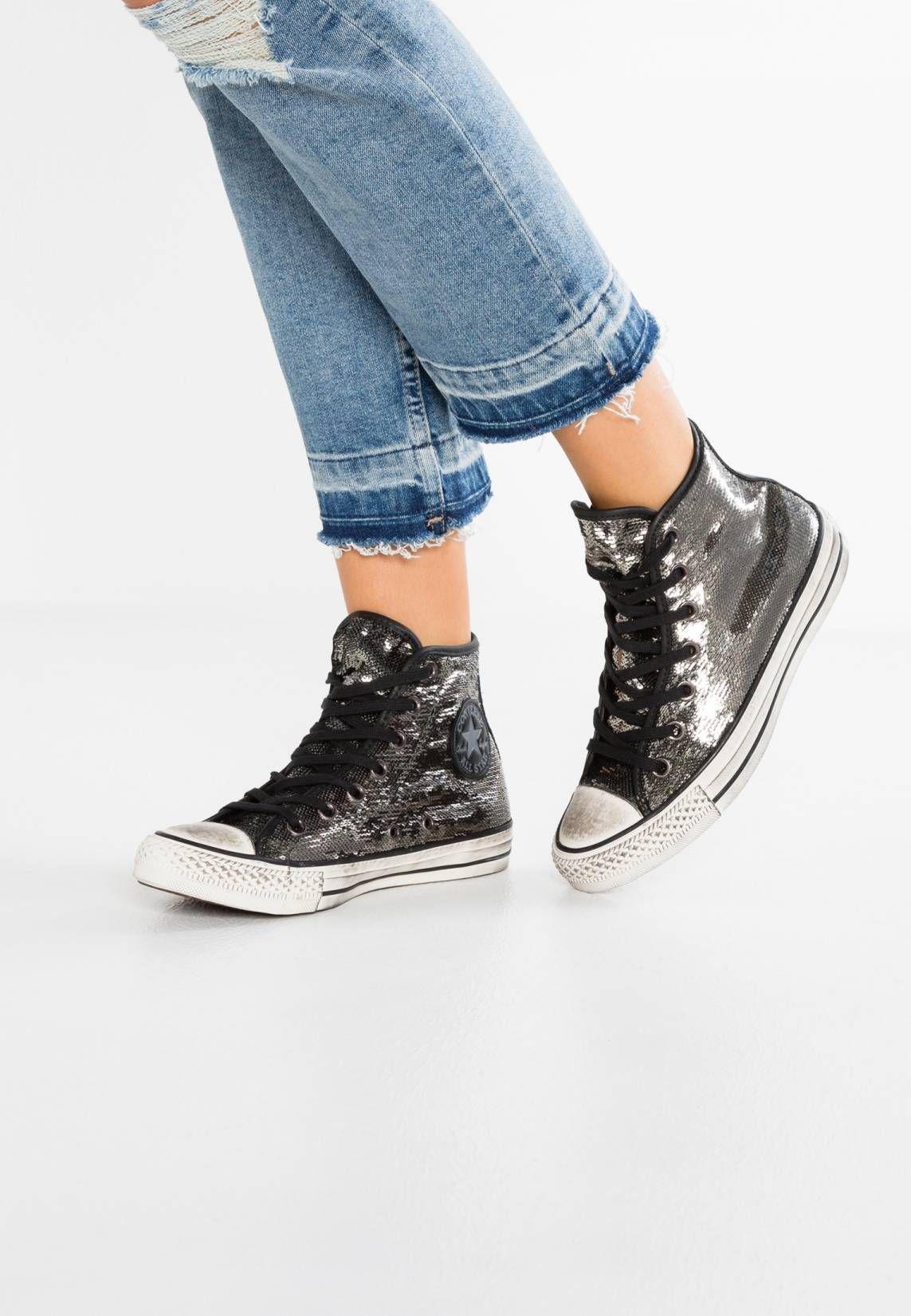 081b5ecc Converse. CHUCK TAYLOR ALL STAR HI SEQUINS DISTRESSED - Zapatillas altas -  thunder/black