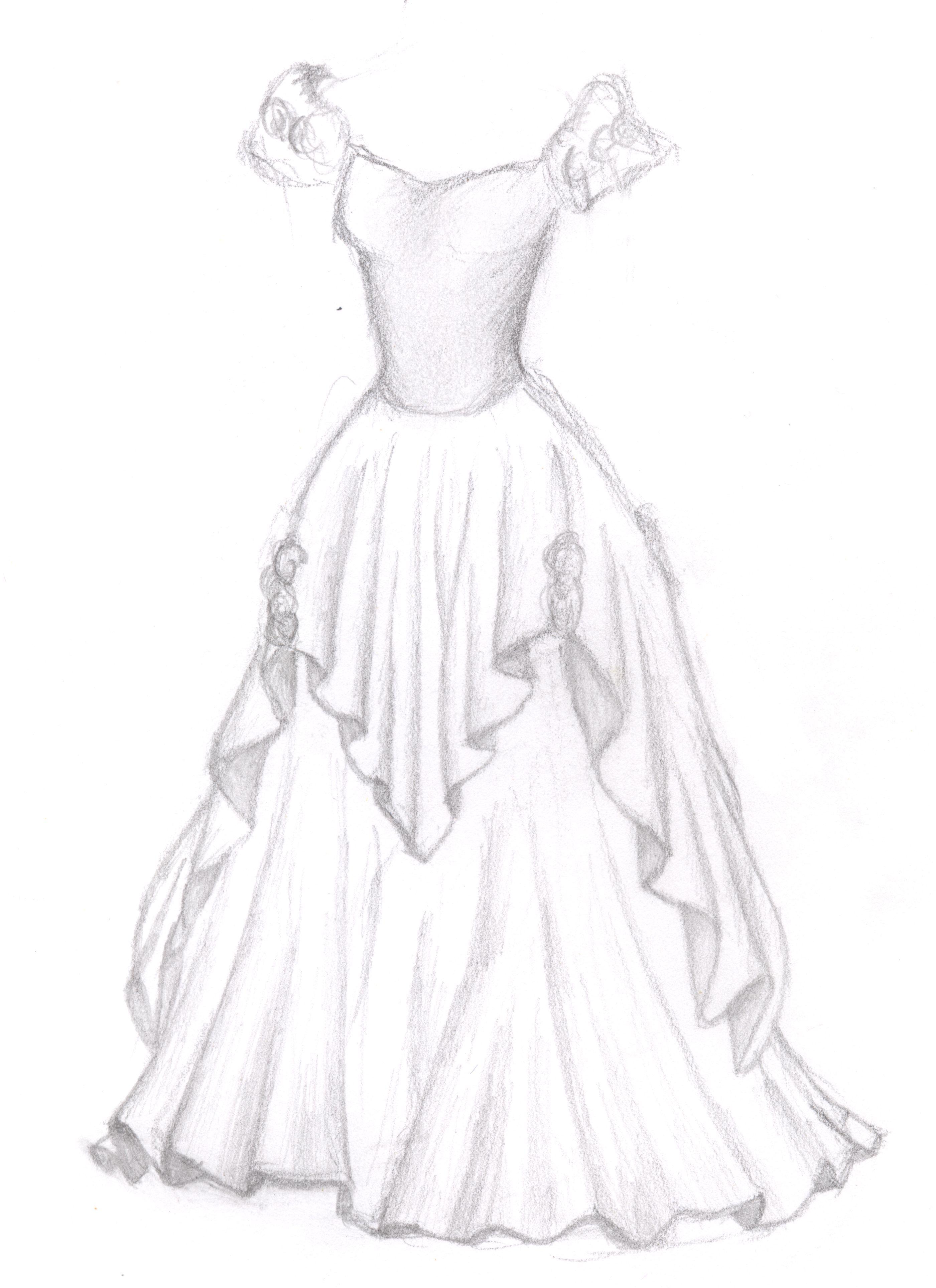 A dress by sarah tesh 2008 dress design sketches wedding dress sketches