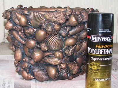 This is one of the best shell projects I have seen and also has great instructions! Thanks to Things Created By Me: Seashell Planter  Only silver