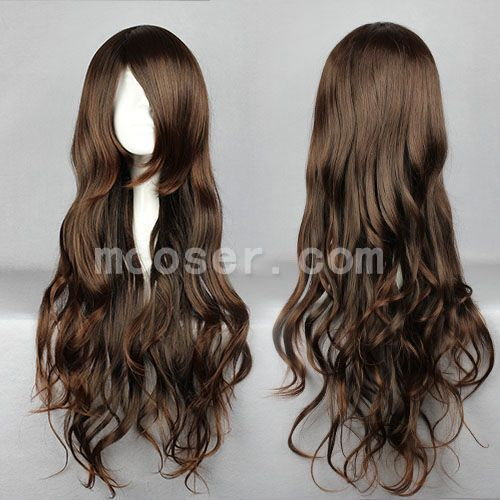 Synthetic None-lacewigs Hair Extensions & Wigs Mcoser Cosplay Chobits-chii Womens Anime 130cm Long Beige Straight Lolita Party Synthetic Hair Full Wig Volume Large