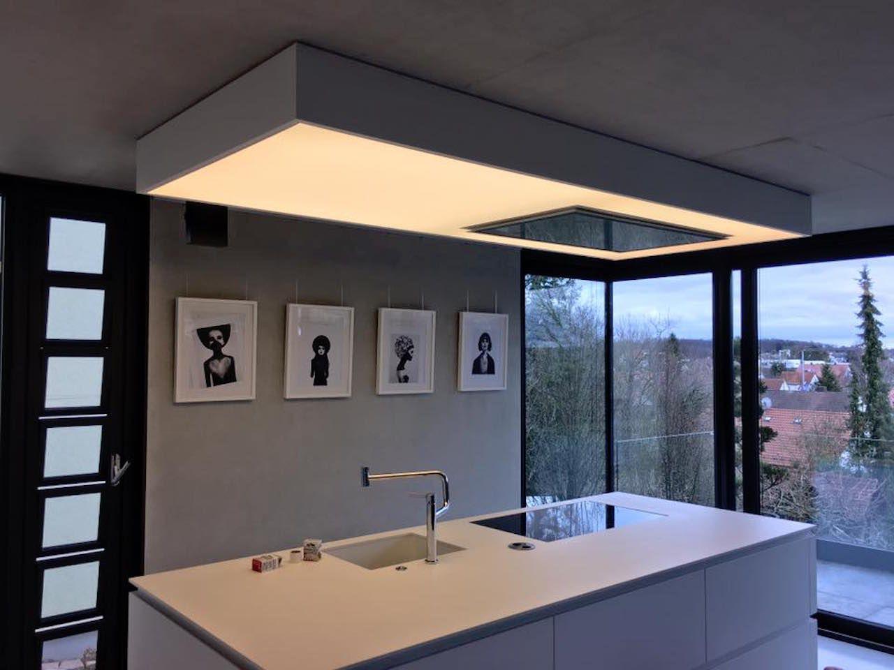 Lichtdecke Transparente Spanndecke Spanndecken Deckenverkleidung Wohnung